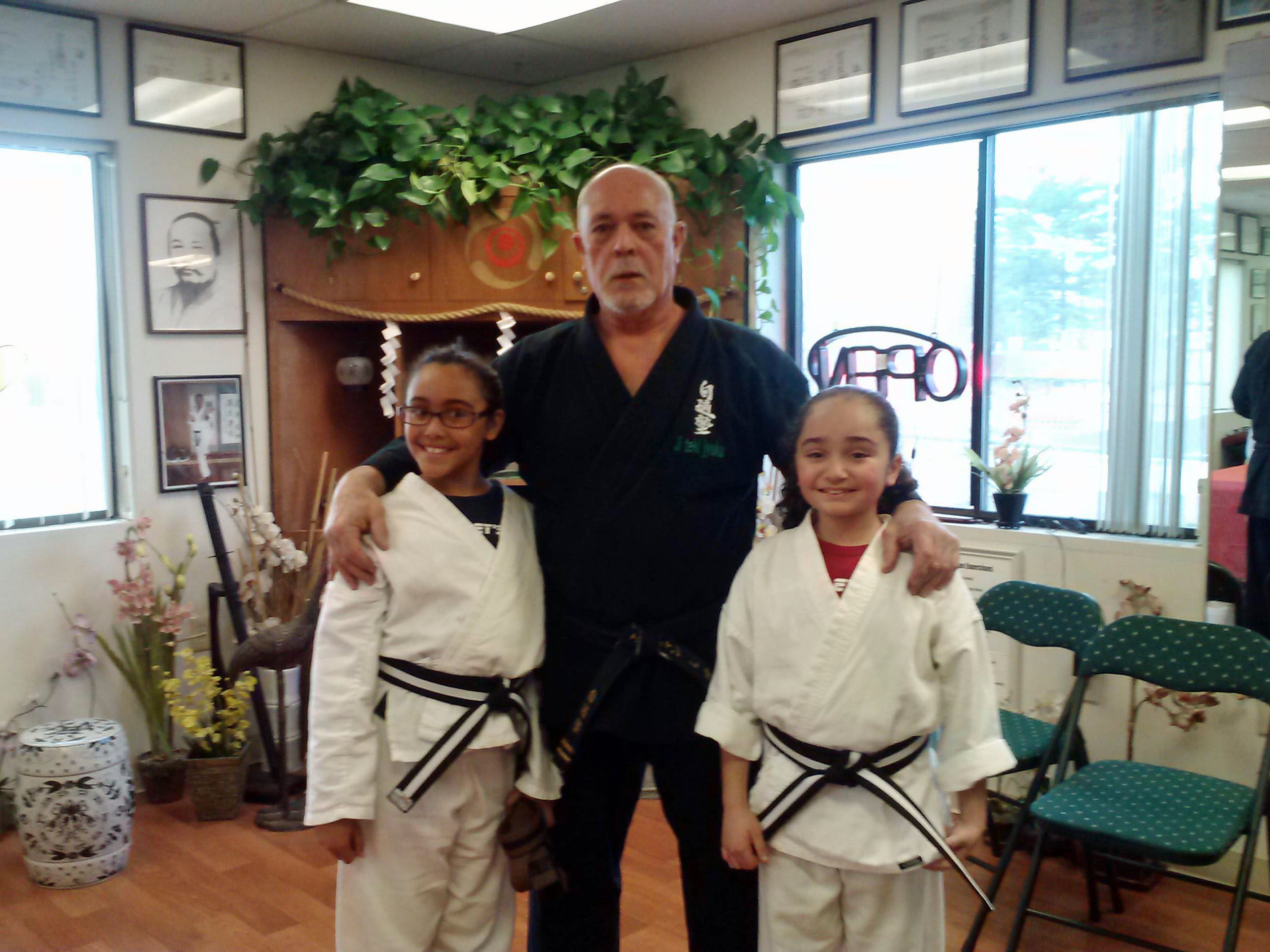 Sensei with Jazmine and Brianna